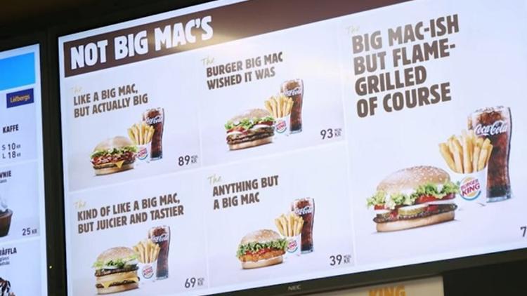 Suède : Burger King trolle McDonald sur la perte de la marque déposée Big Mac