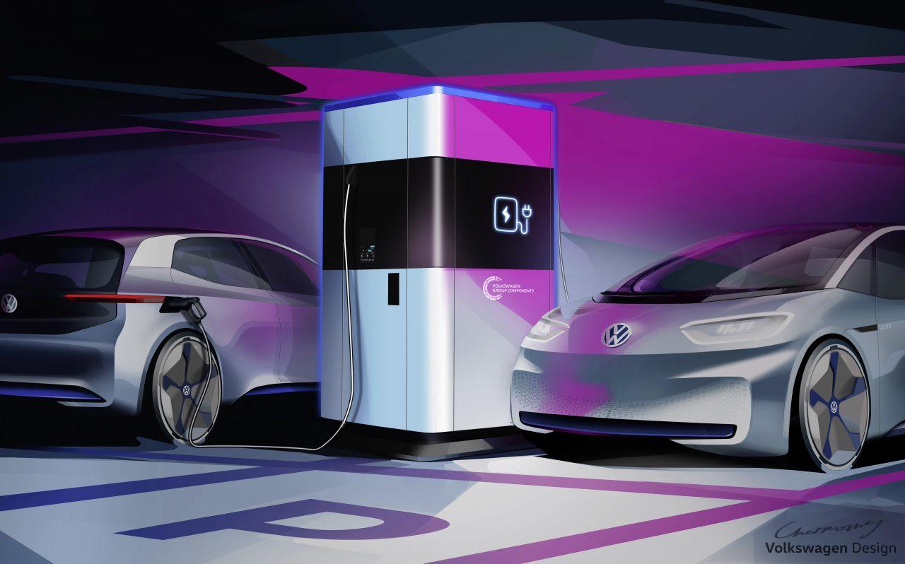 Volkswagen dévoile une station de recharge mobile !