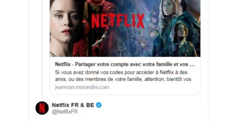 Non, Netflix n'envisage pas d'interdire le partage de comptes !