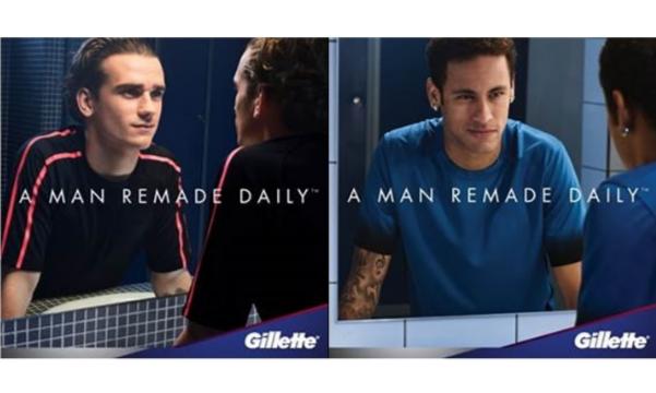 Gillette lance sa nouvelle campagne publicitaire avec Antoine...
