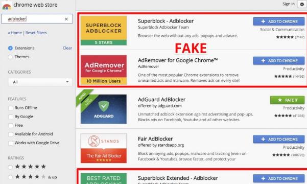 Pour protéger ses utilisateurs, Google supprime 5 bloqueurs...